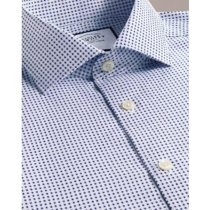 Charles TyrwhittSlim fit business casual navy spot shirt