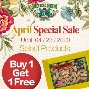Buy 1 Get 1 Free100% Authentic American Wisconsin Ginseng April Offer