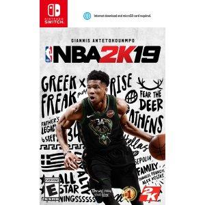 Ri2K《NBA 2K19》 Nintendo Switch 游戏