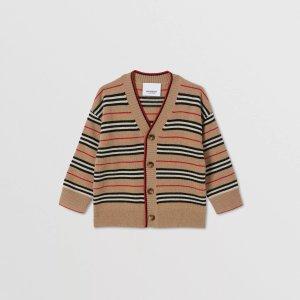 BurberryIcon Stripe Wool Cashmere Cardigan