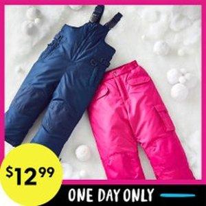 All for $12.99Black Friday Sale Live: Zulily Kids Snow Bib & Pants Black Friday Sale