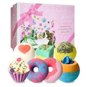 $19.54(原价$27.99)STNTUS 芳疗彩色沐浴弹 七种香味组合 甜甜的澡澡时间