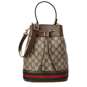 5569bc5ab79 GucciOphidia Small GG Supreme Canvas   Leather Bucket Bag