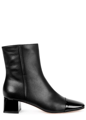 Gianvito Rossi 45 black leather ankle boots - Harvey Nichols