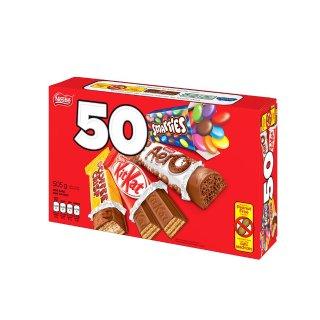 $6.62 (原价$9.99) 万圣节备起来Nestle  MINIS雀巢巧克力威化饼、糖果50个组合装