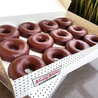 Hot Sale One Day ONLYKrispy Kreme Chocolate Glazed Doughnuts Are Back