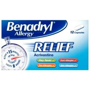 Benadryl抗过敏药 12片