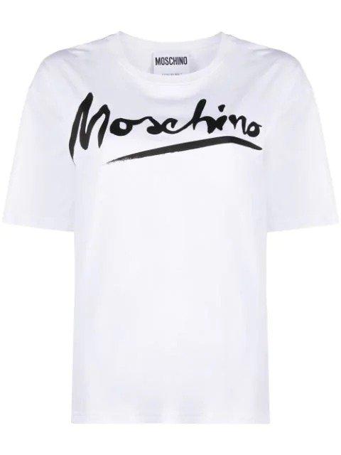 白色logo T恤