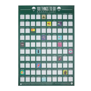 100 Things To Do Scratch Off Poster | Interactive Art; Fun Gifts for Grads | UncommonGoods