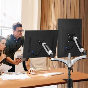 $29.99包邮(原价$69.99)HUANUO 显示器双臂支架 无损安装 可承托27英寸以下显示器