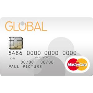 100%通过无需信用卡考核的万事达卡Global MasterCard 可以个人或作为企业实用的信用卡