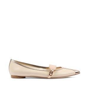 Repetto浅粉色平底鞋