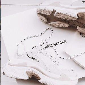 4折起+额外9折 £368收袜子鞋Balenciaga 冬季大促开始 收TS老爹鞋、Track、Logo穿搭等