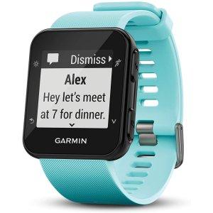 Garmin Forerunner 35 GPS Running Watch, Frost Blue