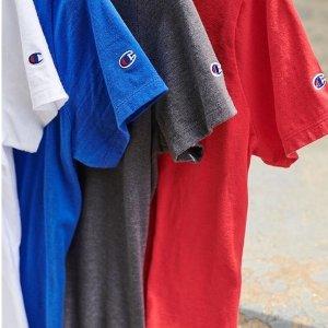 19年新款速干T恤¥123Champion 春夏服饰配饰大促 1件即享8.5折