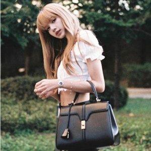 仅$1999(原价:$4250)史低价:Celine 16 黑色手提包 Lisa同款 变相4.7折