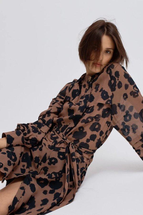 Liberation豹纹印花裙