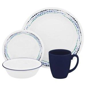 CorelleLivingware™ Ocean Blues 16-pc Dinnerware Set