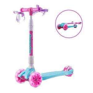额外9折 $49.49起史低价:Royalbaby 儿童三轮滑板车,带LED闪光轮