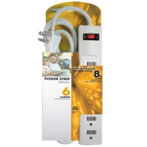 $5.96Prime Wire & Cable PB801115 6-Outlet White Power Strip with 8-Foot Cord, White @ Amazon