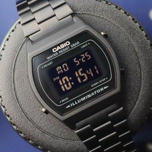折后€41.35 时尚感爆棚Casio B640WB-1BEF 经典复古方块电子表 防水耐用