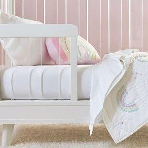 west elmOrganic Cotton Crib Fitted Sheet - Stone White