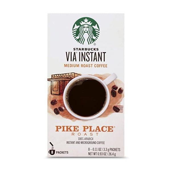 VIA Pike Place中度烘焙速溶咖啡 8条装