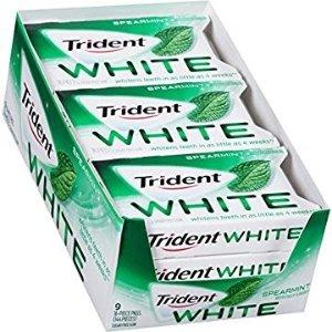$5.69 凑单精品Trident  亮白牙齿口香糖 无糖薄荷味 144粒
