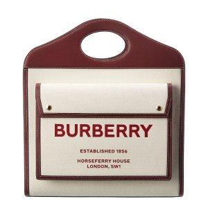 Burberry官网$1750pocket logo托特