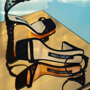 全场4折 经典黑色高跟鞋€265Sergio Rossi 意大利奢华高跟鞋大促 纯手工顶级制作工艺