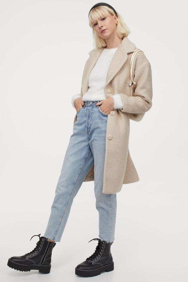 羊毛混合大衣