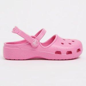封面款粉嫩洞洞鞋$10.63入精选 Crocs 男女童鞋低价特卖 休闲款洞洞款都参加