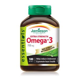 $13.67(原价$17.99)Jamieson 加强型Omega-3深海鱼油100粒装 无腥味