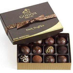 $22.40 手慢无Godiva 黑松露巧克力礼盒 12粒