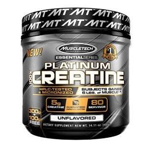 $5.28(原价$6.22)MuscleTech Platinum100% Creatine肌酸 14.1盎司