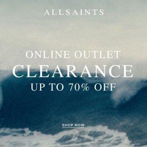3折起!£25收优雅上衣上新:AllSaints 奥莱区大促补货 爆款皮衣、流行春装超低价收