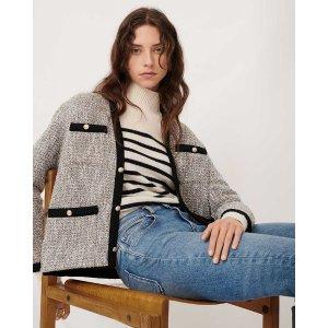 MajeVinie Lurex Tweed 小香风毛呢外套