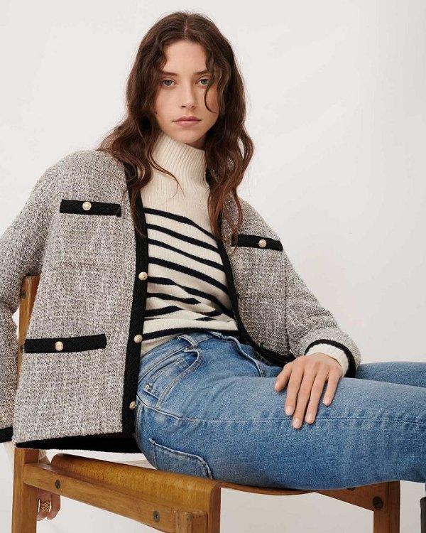 Vinie Lurex Tweed 小香风毛呢外套
