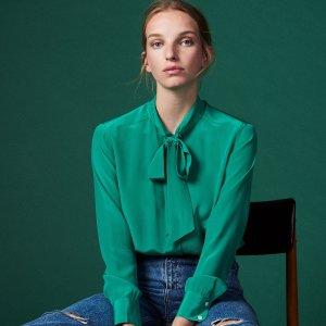 无门槛8折 收丝质蕾丝上衣Sandro Paris 精选上衣热买 是心动的感觉