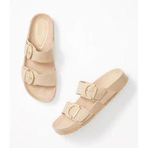 LOFT Outlet4件额外8.5折双扣凉鞋