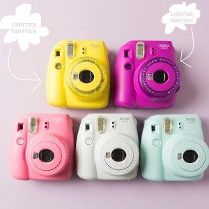 紫色、黄色仅 €48.2 原价€84Fujifilm instax Mini 9 拍立得 限量色超低折扣
