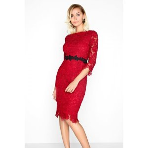 Paper Dolls Red Lace Dress
