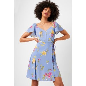 French ConnectionEme Crepe Faux Wrap Dress