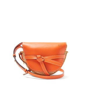 LoeweGate small leather and raffia cross-body bag | Loewe | MATCHESFASHION.COM US