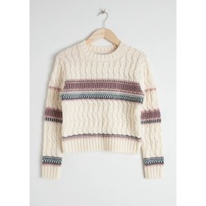 & Other StoriesCropped Cable Knit Sweater