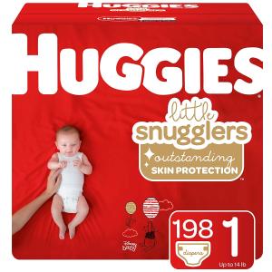 Huggies Little Snugglers 系列尿不湿特卖 1号 198片