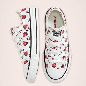 封面可爱草莓款$16.08Converse官网 精选儿童帆布鞋额外8折促销