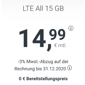 11点截止 月租仅€14.99大流量套餐就选它 包月所有电话/短信+15GB上网+欧盟漫游