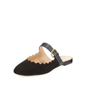 ChloeLauren Flat Suede 拖鞋