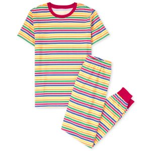 The Children's PlaceUnisex Adult Matching Family Short Sleeve Striped Matching Cotton Pajamas